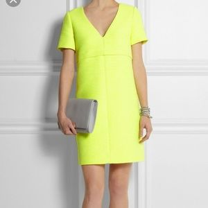 J Crew Neon Yellow Canvas Dress Size 6